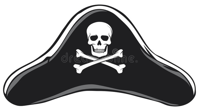 Pirate hat stock photography