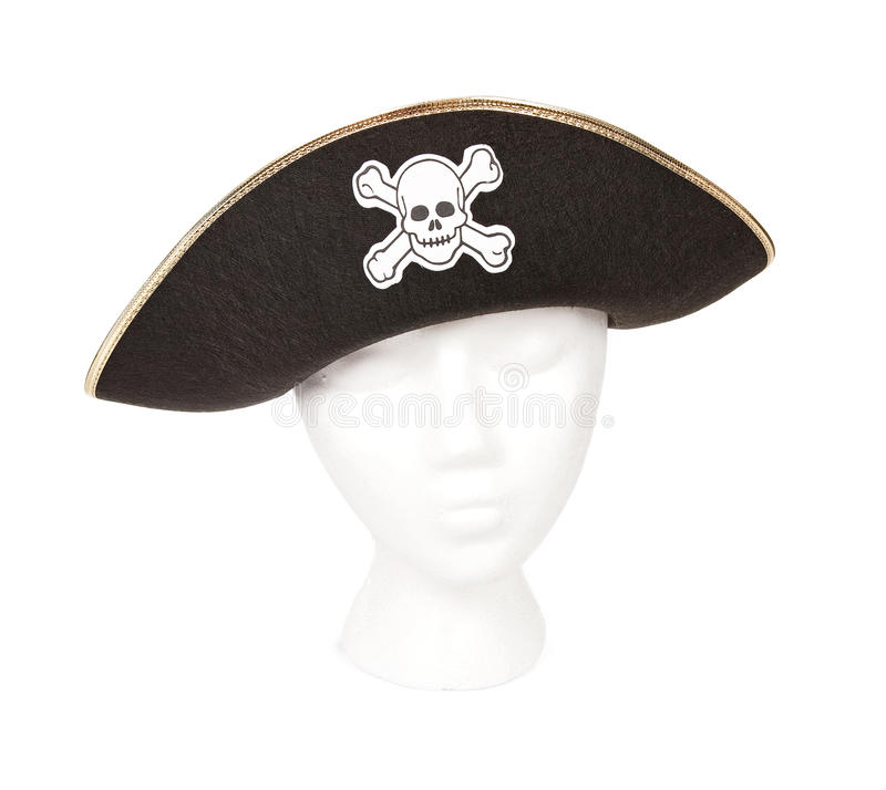 Pirate hat with Skull and Crossbones royalty free stock images