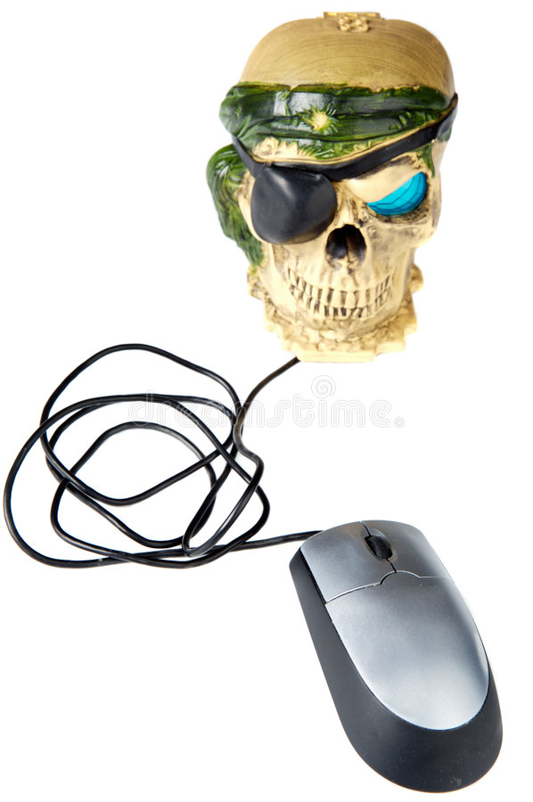 Pirate head. A photo of a pirate head a over white background royalty free stock image
