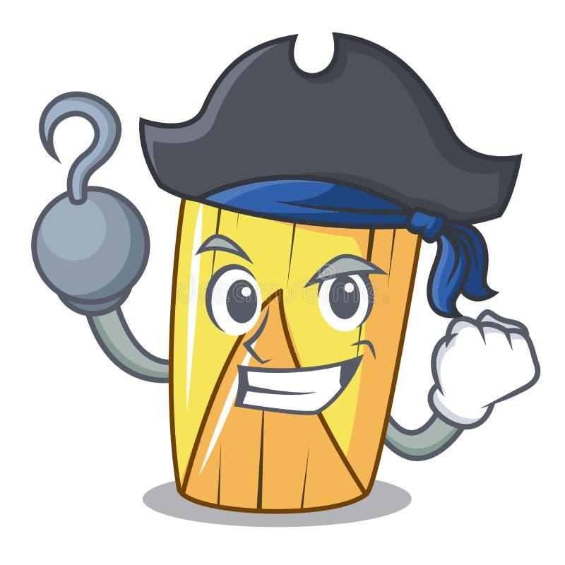Pirate homemade zawinięte tamale izolowane na maskocie ilustracja wektor