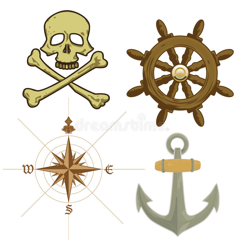Pirate Icons vector illustration