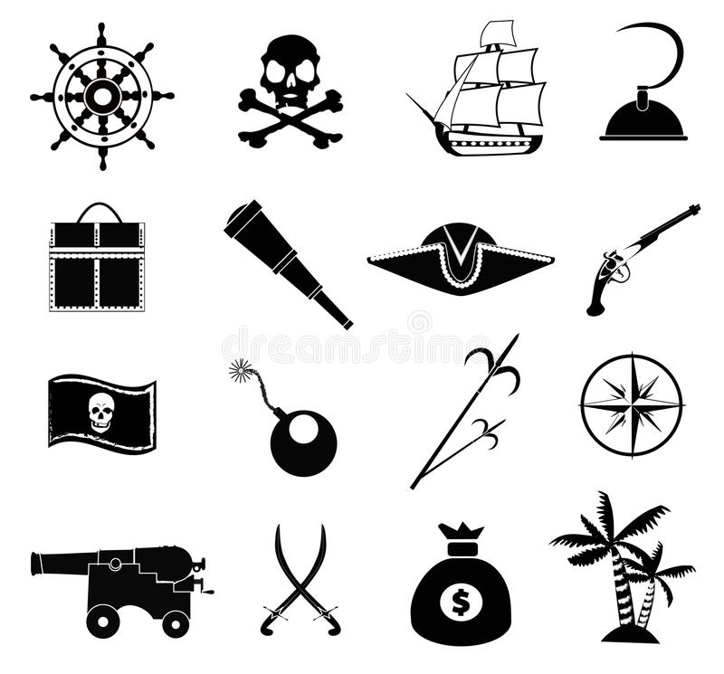 Pirate Icons Set vector illustration
