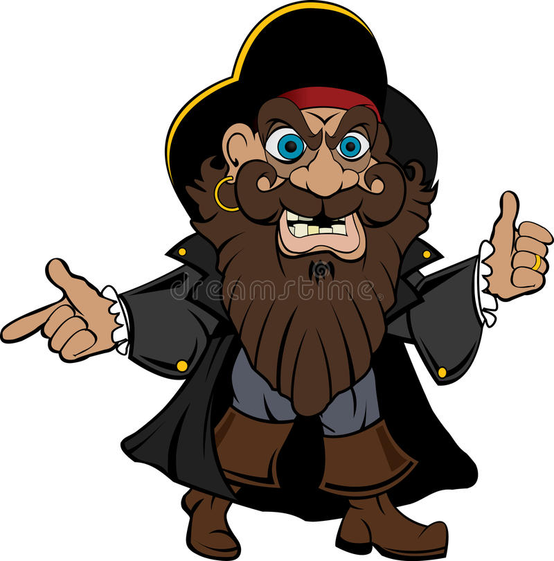 Pirate illustration royalty free stock images