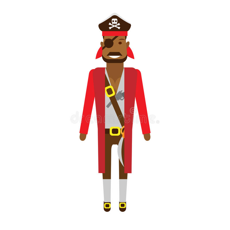 Download Pirate stock vector. Image of male, background, character - 33907554