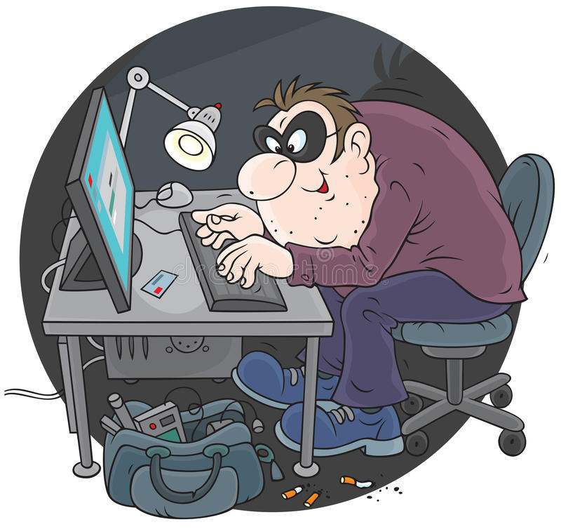 Pirate informatique illustration libre de droits
