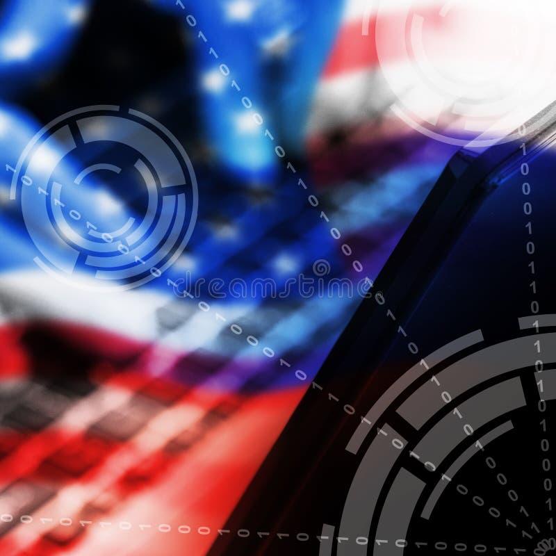 Pirate informatique dactylographiant l'illustration entaillée de l'alerte 3d de données illustration de vecteur
