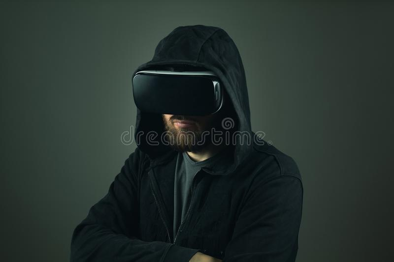 Pirate informatique de Web de réalité virtuelle Vol d'identit? sur l'Internet image stock