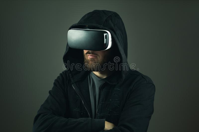 Pirate informatique de Web de réalité virtuelle Vol d'identit? sur l'Internet photo stock