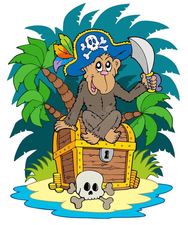 Free Pirate Island With Monkey Royalty Free Stock Photos - 14396008