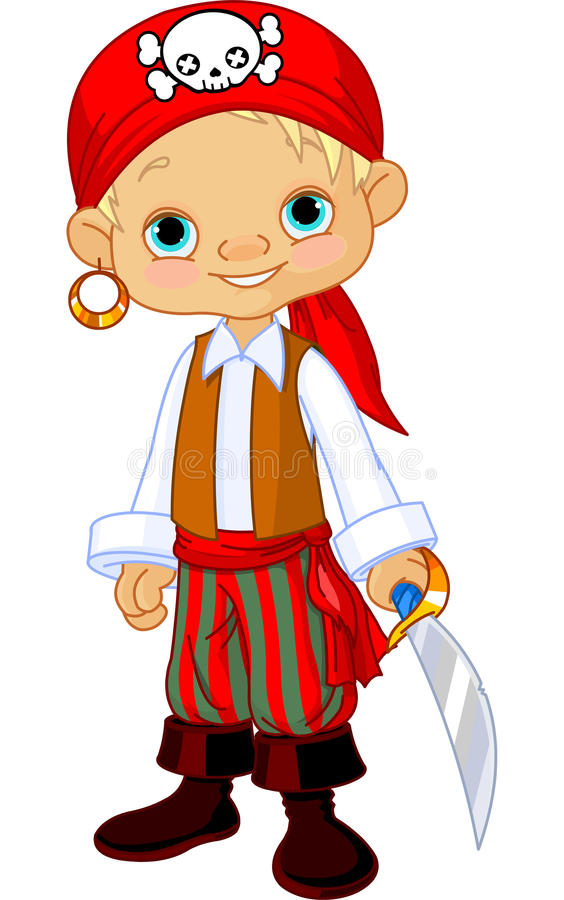 Download Pirate Kid stock vector. Image of clip, dagger, costume - 27001311