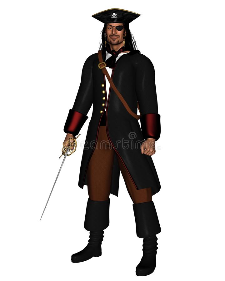 Download Pirate King stock illustration. Image of boots, dark - 16032773