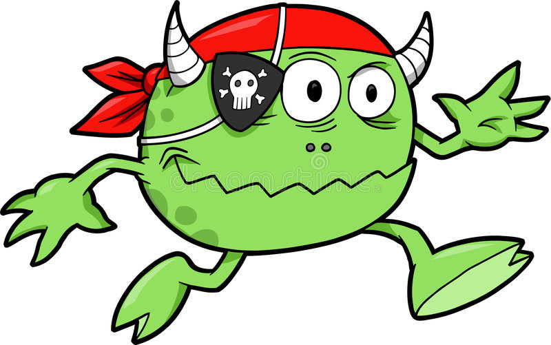 Pirate Monster Vector royalty free illustration