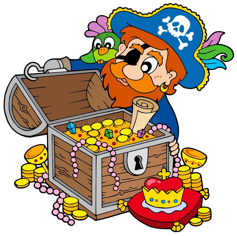 Free Pirate Opening Treasure Chest Stock Image - 11853741