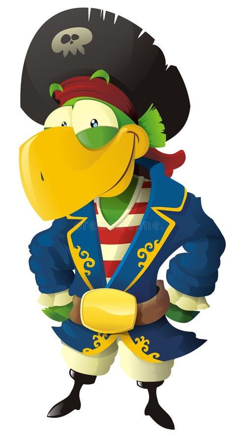 Download Pirate parrot stock vector. Illustration of coat, cartoon - 25124140