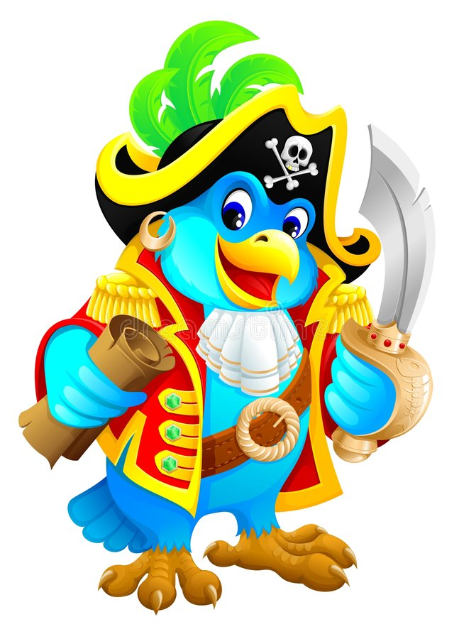 Download Pirate parrot stock illustration. Image of filibuster - 6383480