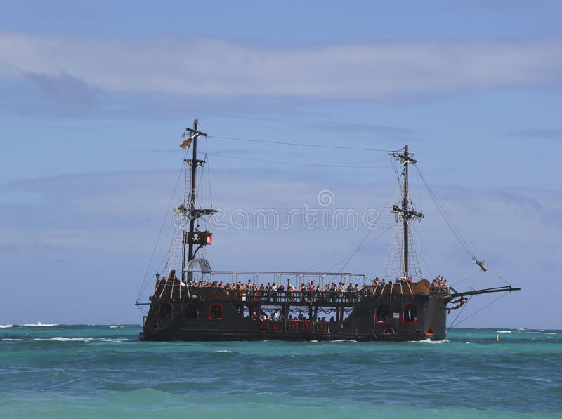 Pirate party boat in Punta Cana, Dominican Republic stock photo