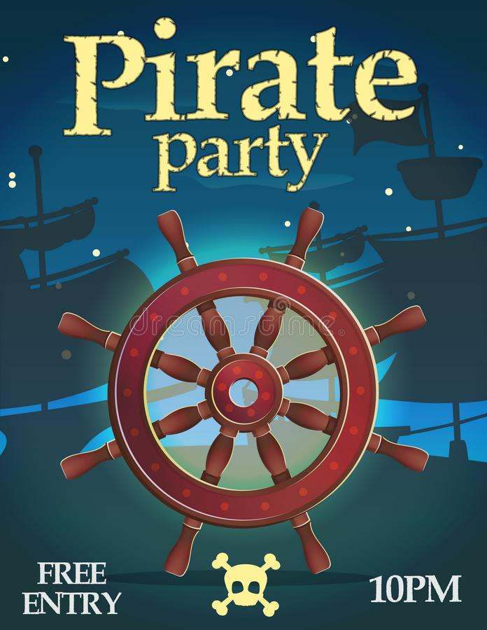 Pirate party invitation template royalty free illustration