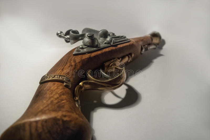 Pirate pistol. Isolated on white background royalty free stock images
