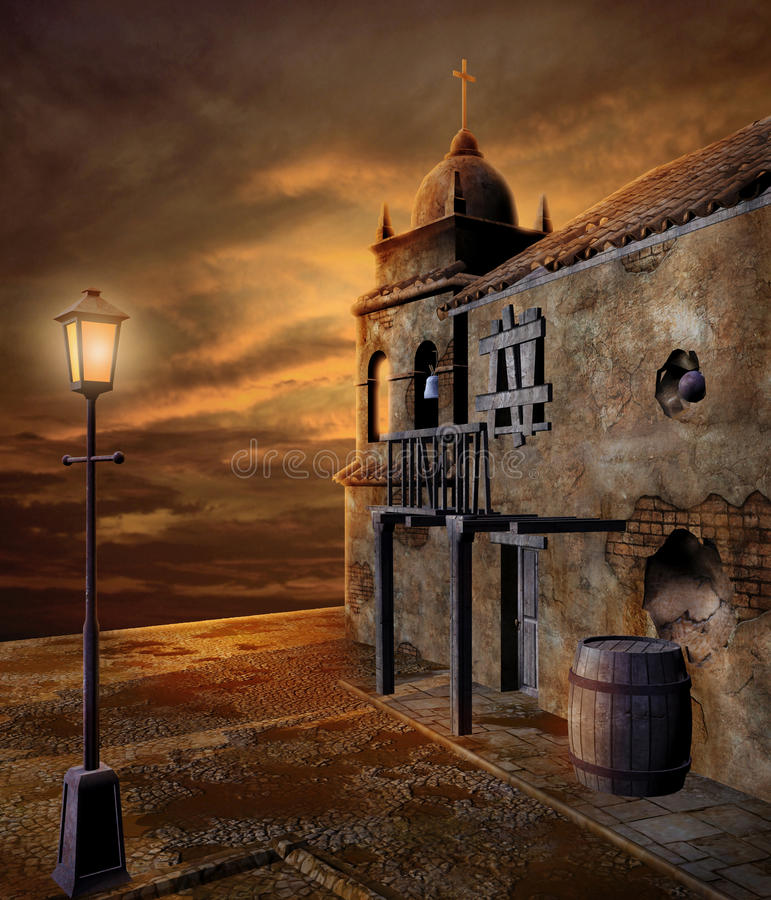 Download Pirate port 2 stock illustration. Image of background - 12896440