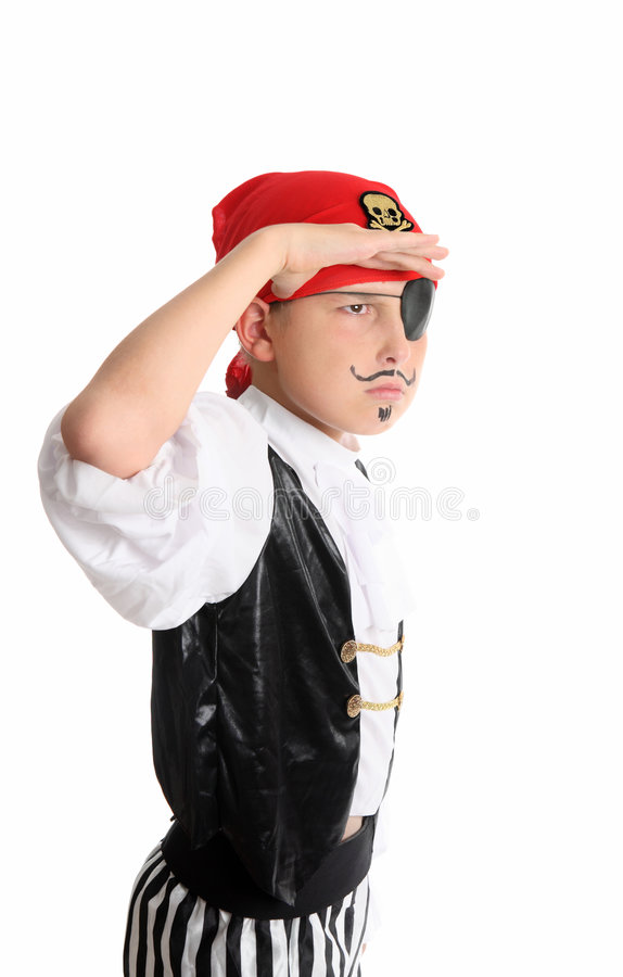 Pirate regardant à l'extérieur photographie stock