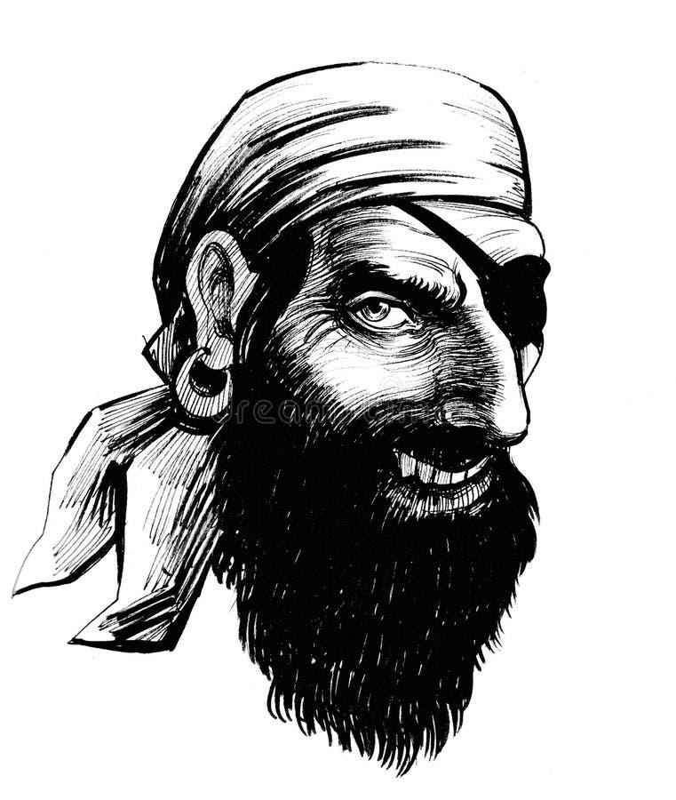 Pirate riant illustration de vecteur