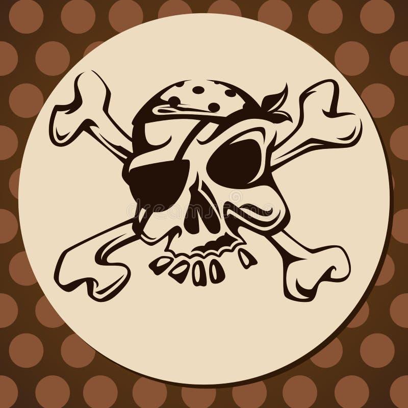 Pirate's skull stock photos