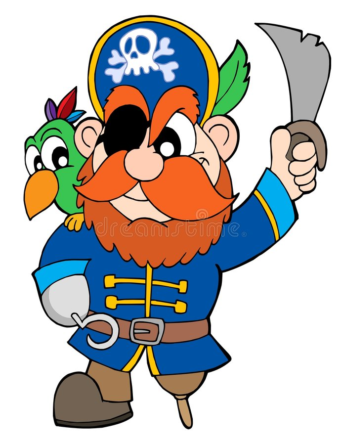 Download Pirate With Sabre And Parrot Stock Vector - Image: 5906246