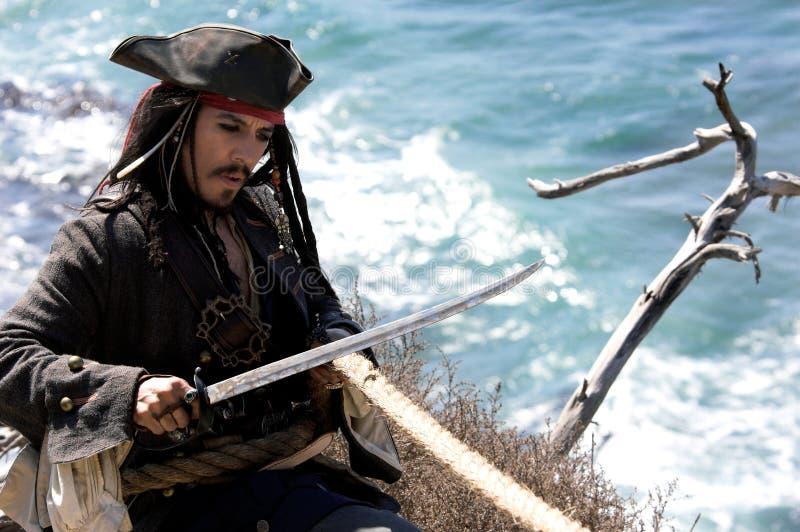 Pirate saisi photographie stock