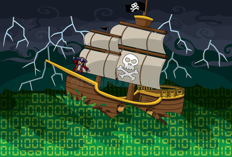 Download Pirate Sea stock vector. Illustration of piracy, technology - 14329646