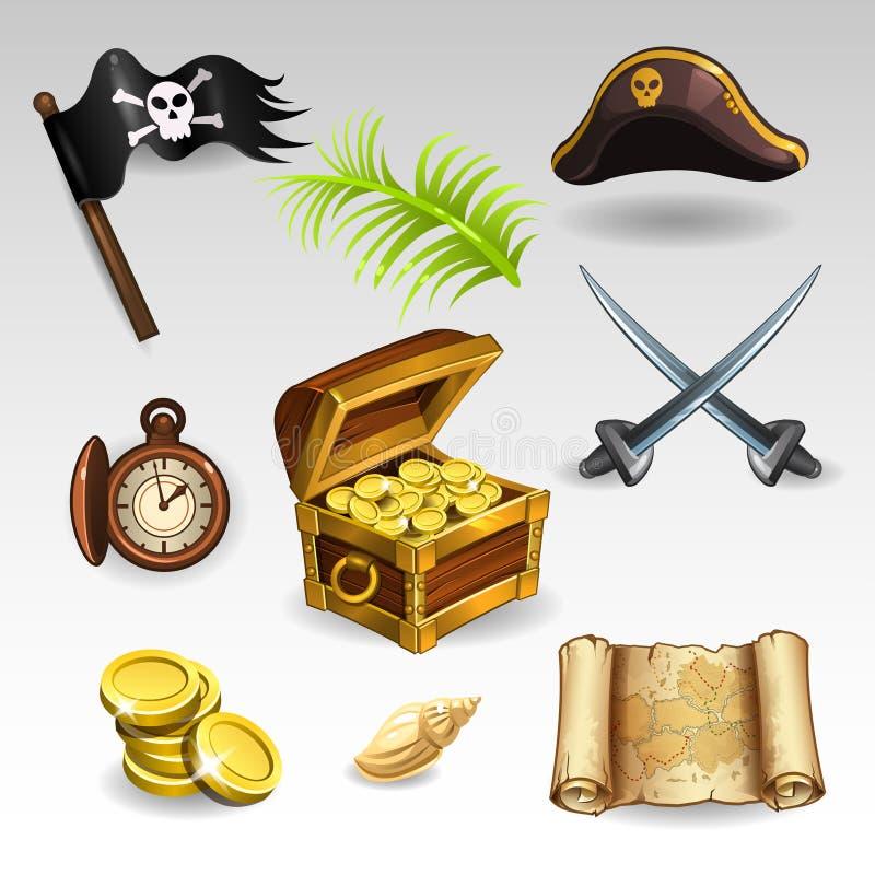 Pirate Set royalty free illustration
