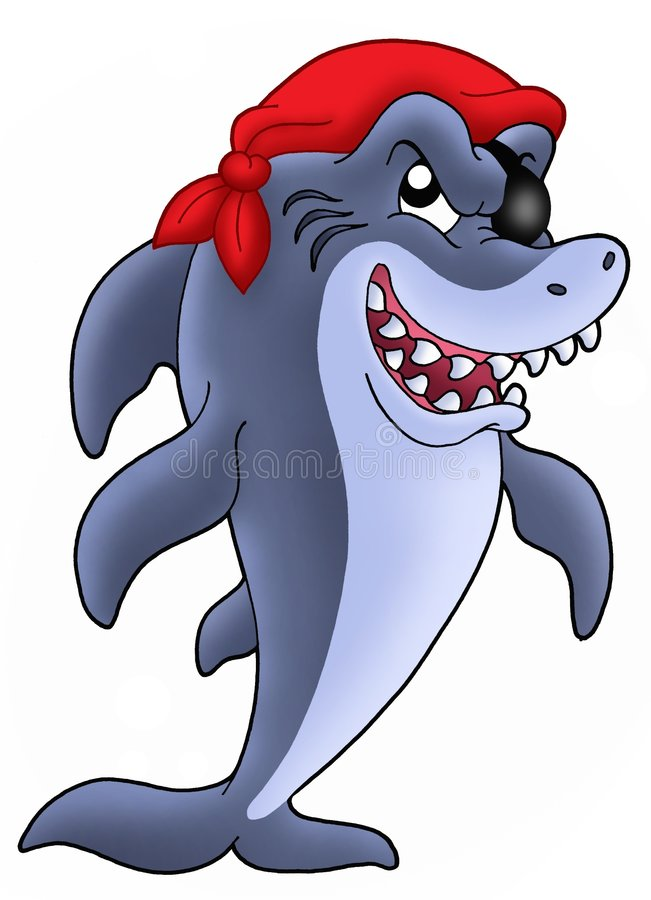 Pirate shark royalty free illustration