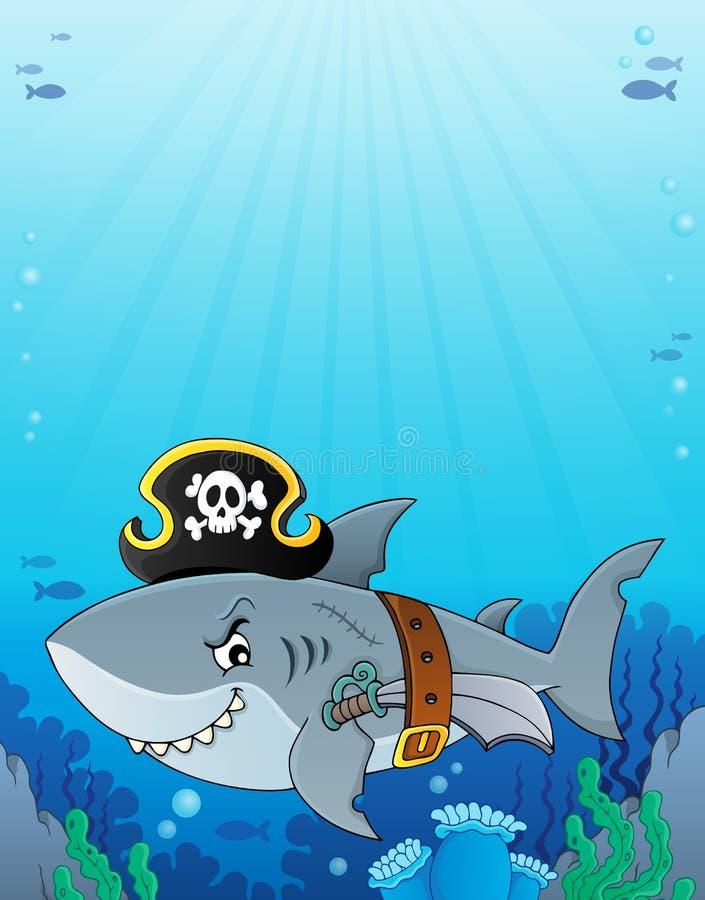 Pirate shark topic image 6 vector illustration