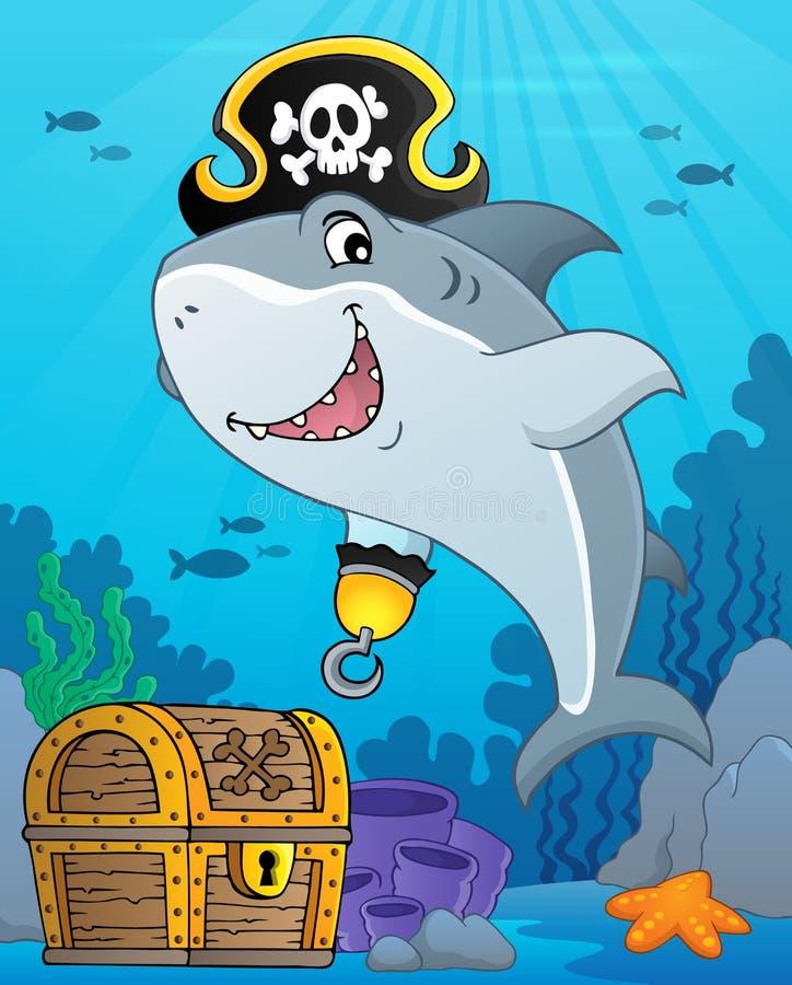 Pirate shark topic image 9 stock illustration