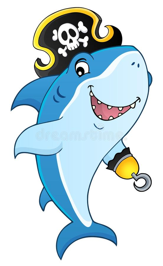 Pirate shark topic image 8 stock illustration