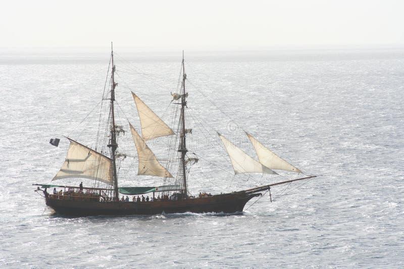 Download Pirate Ship stock photo. Image of horizon, caribbean, bold - 1075488