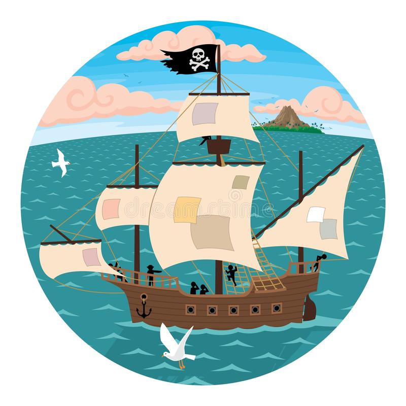 Download Pirate Ship stock vector. Image of exotic, mariner, adventure - 11609144