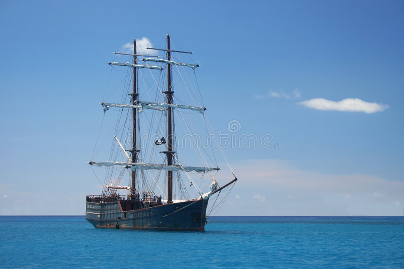 Download Pirate Ship stock image. Image of historic, sails, skull - 2933251