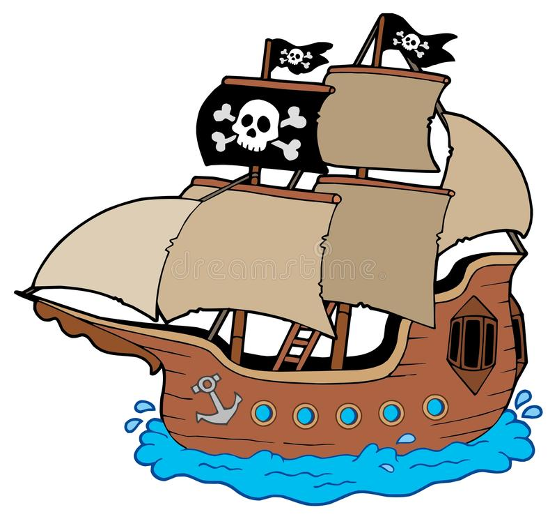 Pirate ship stock illustration