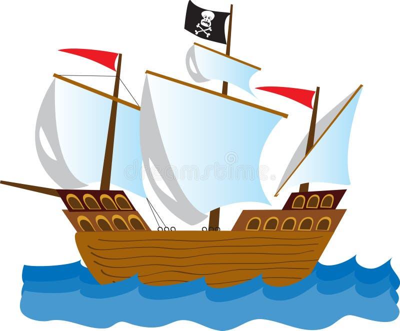 Pirate Ship Stock Vector