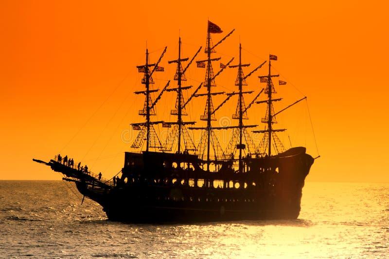 Pirate ship. royalty free stock image