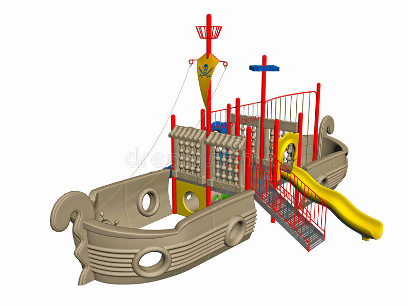 Download Pirate ship playground stock illustration. Image of boat - 21946271
