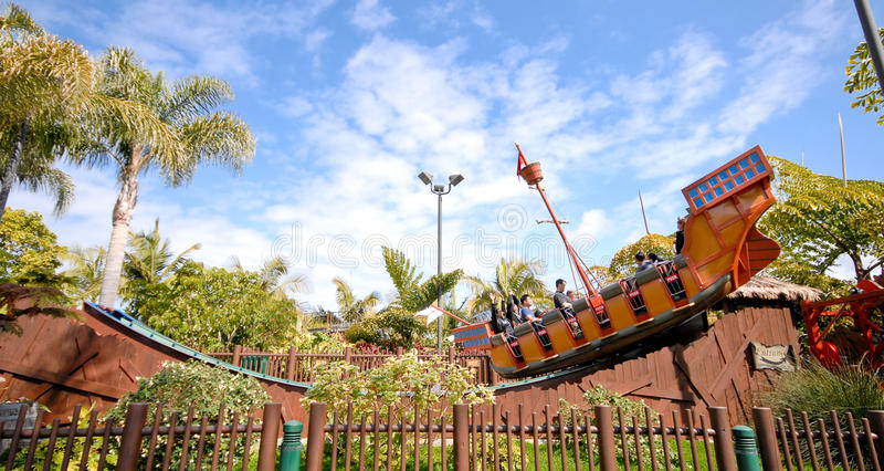 Pirate Ship Roller Coaster Editorial Stock Photo