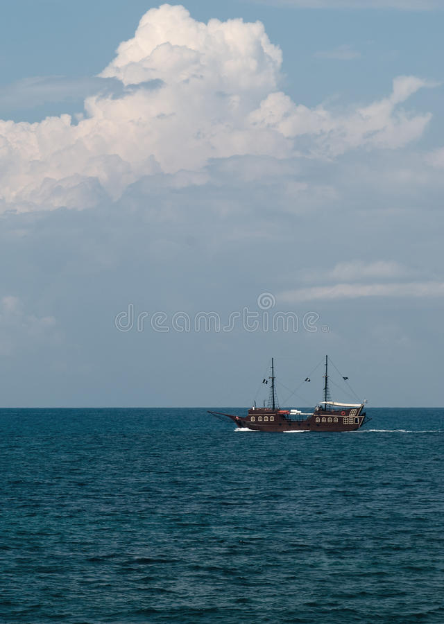 Download Pirate ship in the sea stock photo. Image of buccaneer - 24703396