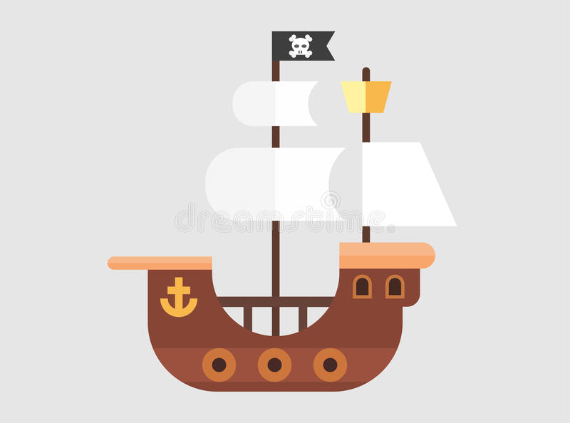 Pirate Ship Vector stock images