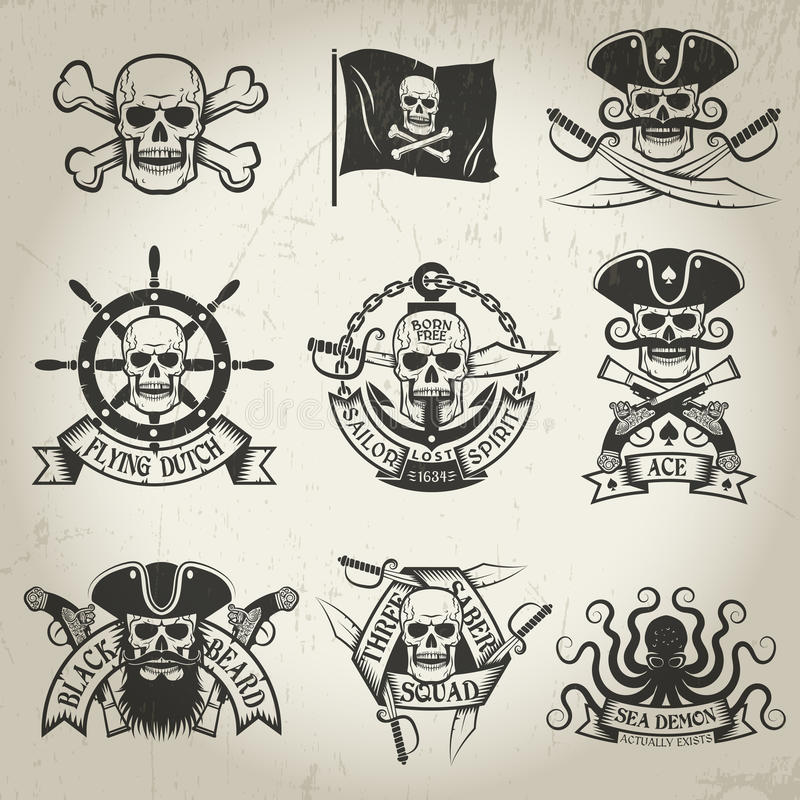 Pirate sign stock illustration