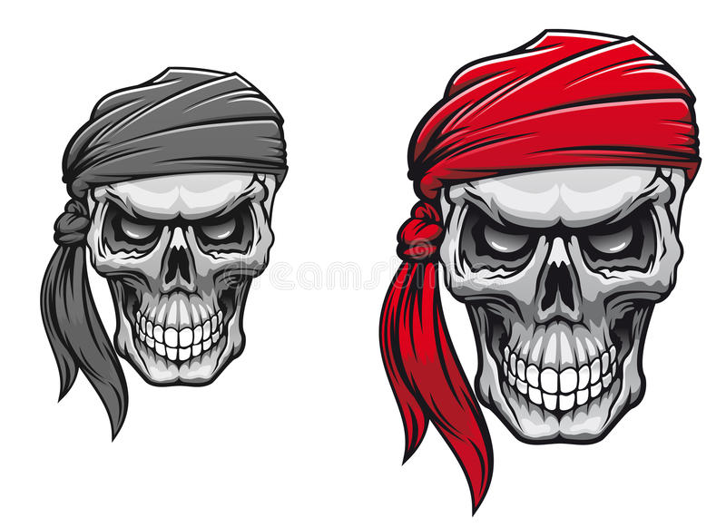 Pirate skull stock illustration