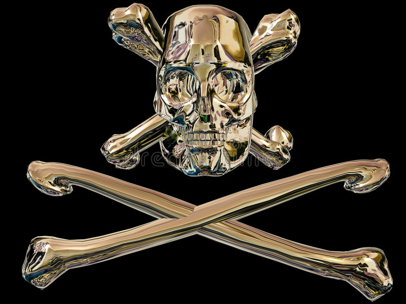 Download Pirate Skull And Cross Bones Stock Illustration - Illustration of isolated, bony: 4312888