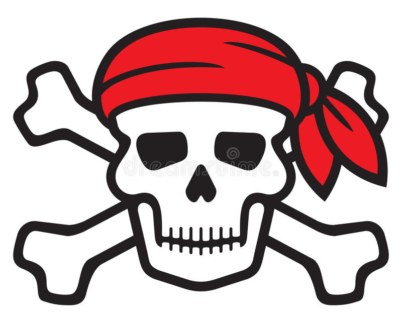 pirate skull stock vector illustration of bandana crossbones rh dreamstime com pirate skull and bones clip art
