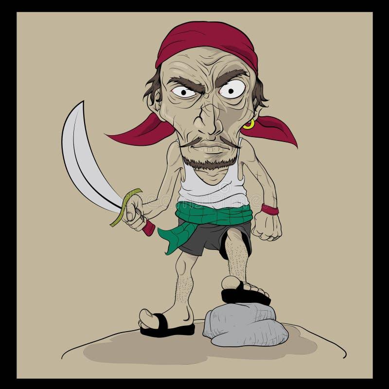 Pirate supérieur illustration stock