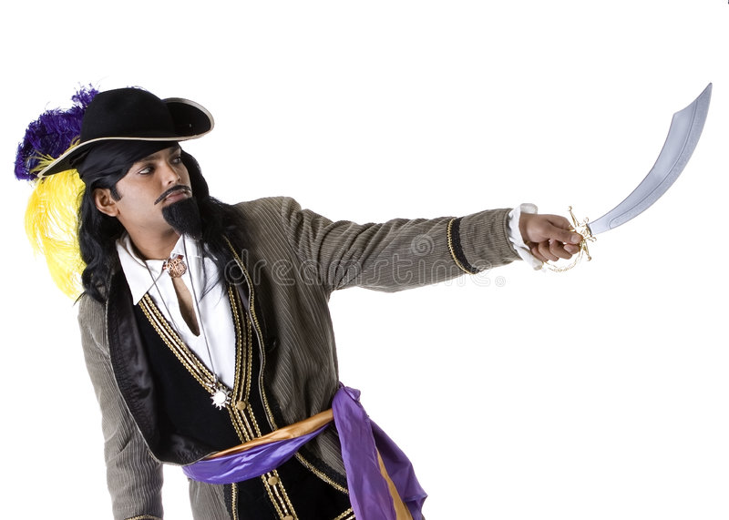Download Pirate with sword stock photo. Image of adult, portrait - 5036838